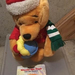 Brand New Winnie the Pooh X-Mas Doll and Book